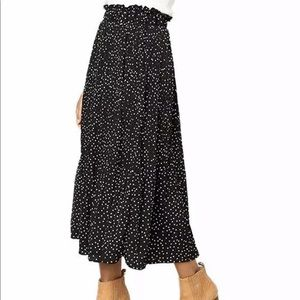 Nasty Gal polka dot midi skirt